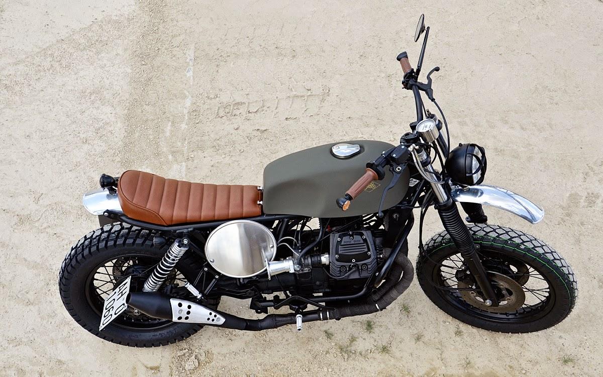 Moto guzzi nevada 750 scrambler grease n gas for Garage custom moto