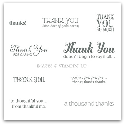 Lots of Thanks Stamp Brush Set - Stampin' Up! Digital Download