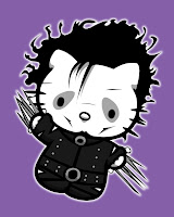 Hello Kitty in Edward Scissorhands costume