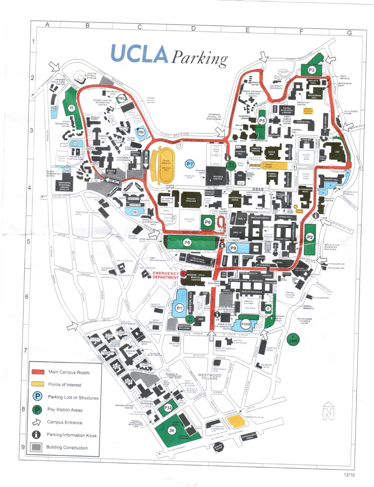 ucla campus map. the 'licious life smc purple knights vs ucla bruins