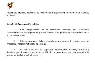El Real Madrid se acoge al Artículo 41 del Código Disciplinario de la Real Federación Española