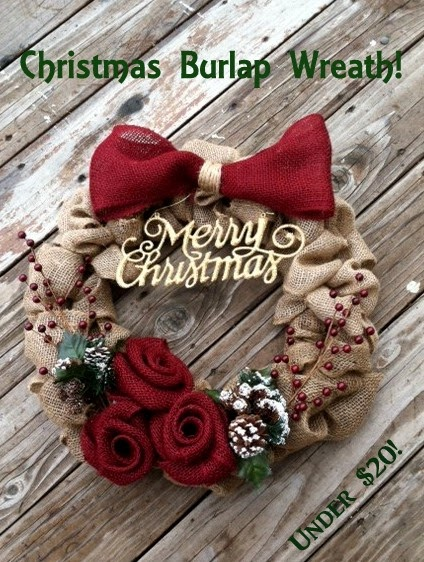 so here it is my fun and easy burlap christmas wreath the kind that will last thru more than one year and doesnt die or crumble - Burlap Christmas Wreath