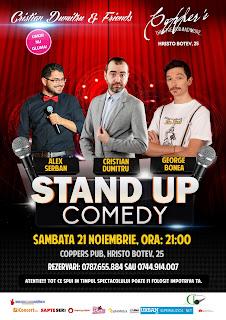 Stand-Up Comedy Sambata 21 Noiembrie Bucuresti
