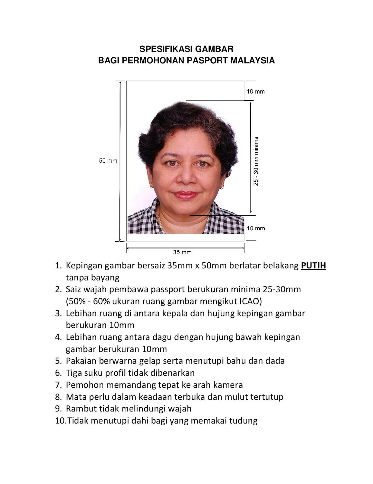 Saiz Gambar Untuk Passport Malaysia Soalan By
