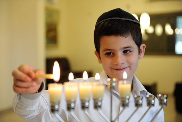 Elegant Lighting The Menorah On The First Night Of Hanukkah Amazing Design
