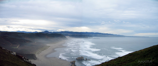Bayas Beach in Asturias Spain