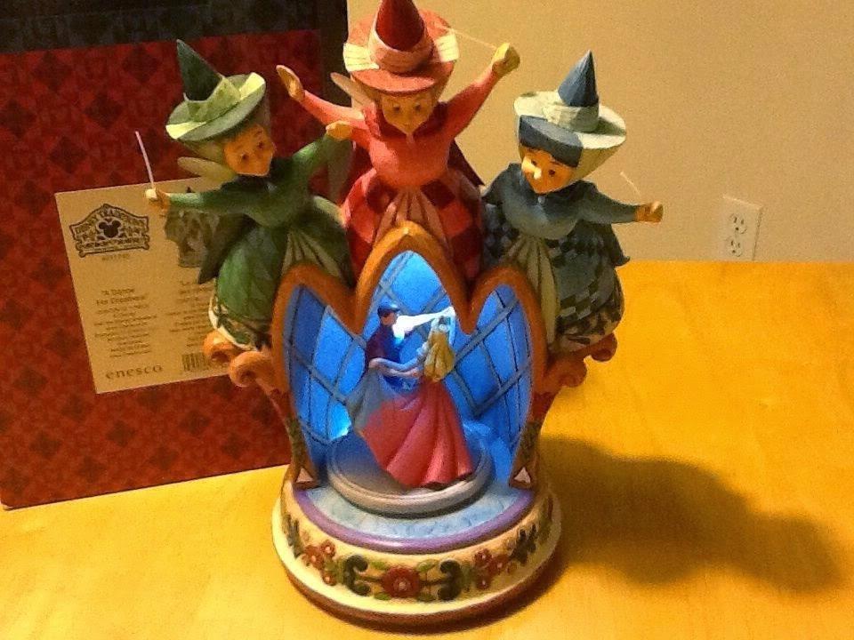 "Jim Shore Disney Sleeping Beauty Princess Aurora Fairies ""A Dance For Dreamers"""