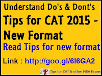 CAT 2015 New Format - Tips for CAT 2015