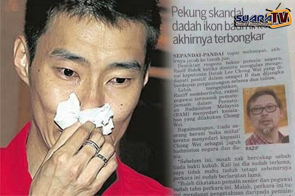 Chong Wei Saman Razif Sidek Dan Kosmo, Kerana Dakwaan Ambil Dadah