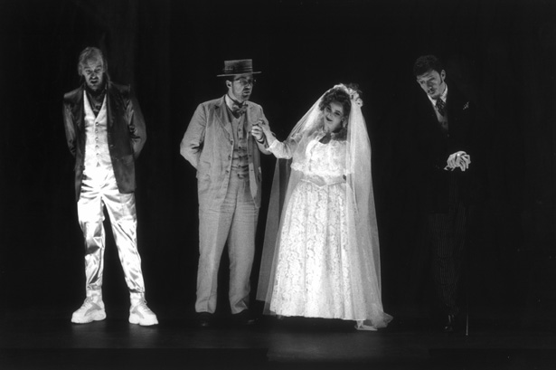 "Donal (2nd from left) as Ernesto in ""Don Pasquale"" - La Monnaie, Brussels."
