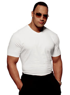 The Rock with white Shirt