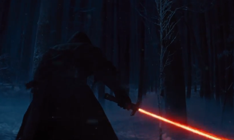 The Mysterious dark side character ignites stage one of his lightsaber