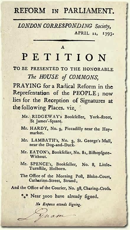 London Corresponding Society handbill, 1793