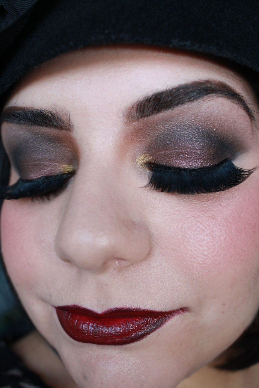 the great gatsby makeup look by pretty in pigment