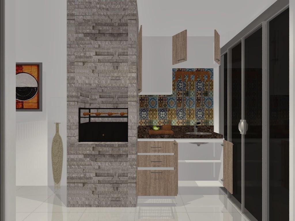 móveis planejados para uma varanda gourmet