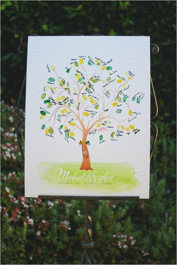 thumb print tree - guest sign in // photo credit: closer to love photography & design