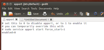 disable apport in ubuntu 12.04 lts