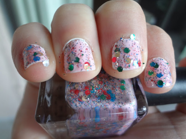 lollipop nail polish swatch outside