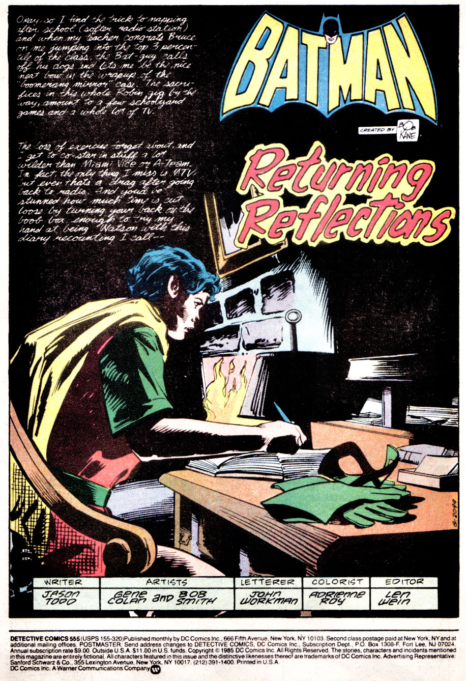 Detective Comics (1937) Issue #555 Page 2