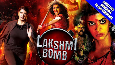 Poster Of Lakshmi Bomb Full Movie in Hindi HD Free download Watch Online 720P HD
