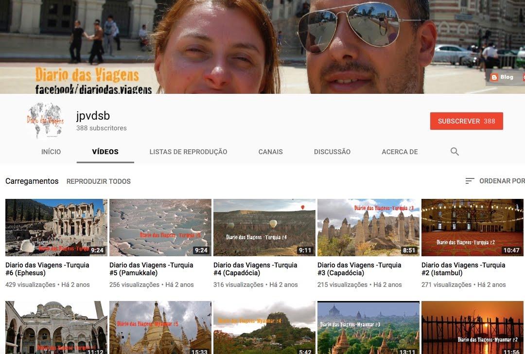 -Diário das Viagens no Youtube: