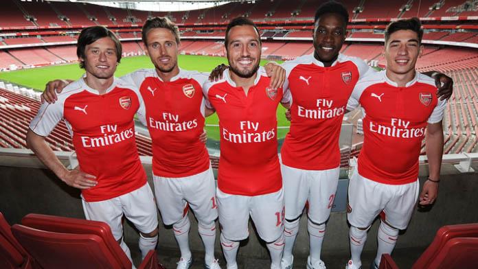arsenal 1516 home kit released footy headlines