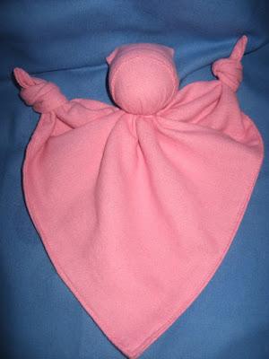 Antroposofisch lappenpopje roze Atelier de Vier Jaargetijden
