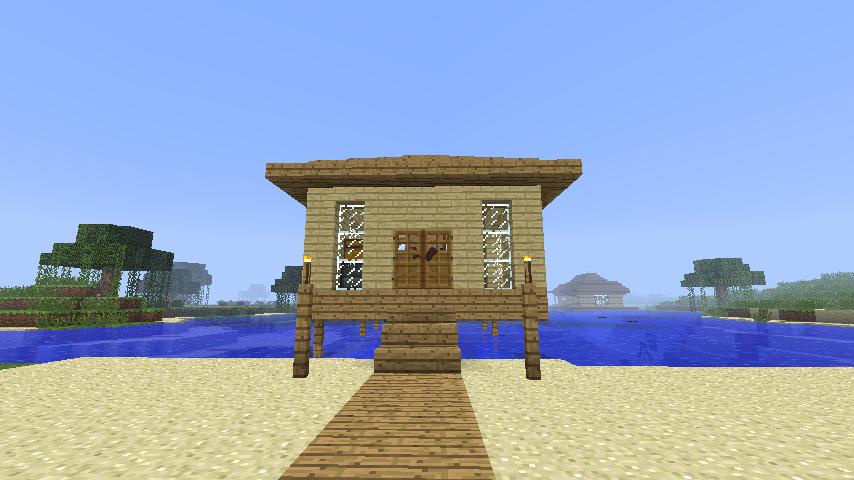 Mein Minecraft Blog Baututorial Starter Beach House - Minecraft hauser bauen leicht