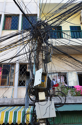Classic Phnom Penh utility pole