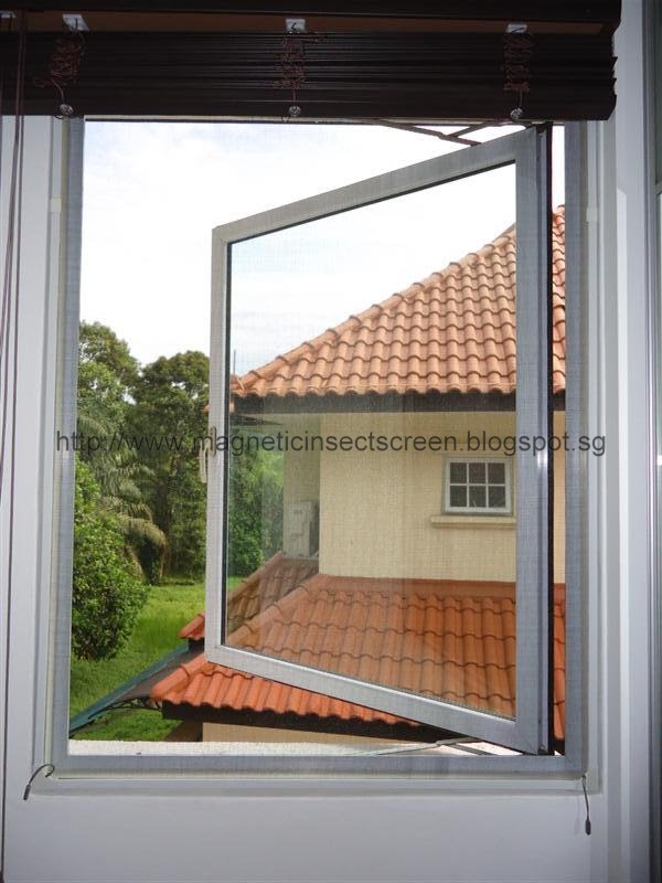 Diy magnetic insect screen singapore install pvc tube for for Installing casement windows