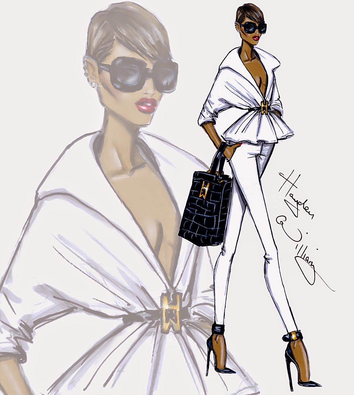 Hayden Williams Fashion Illustrations August 2014