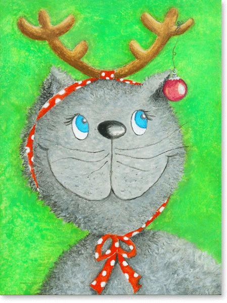 Weihnachtskatze Lina