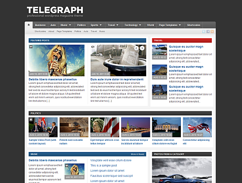 Telegraph - Magazine Wordpress Theme Free Download by WpZoom.