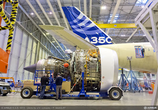 The first Airbus A350 XWB now with Rolls-Royce Trent XWB engines