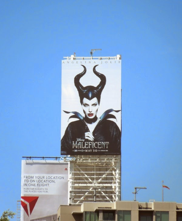 Maleficent movie billboard Sunset & Vine