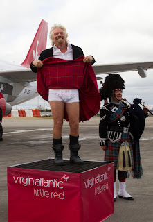 Richard Branson promotes Virgin Atlantic Little Red