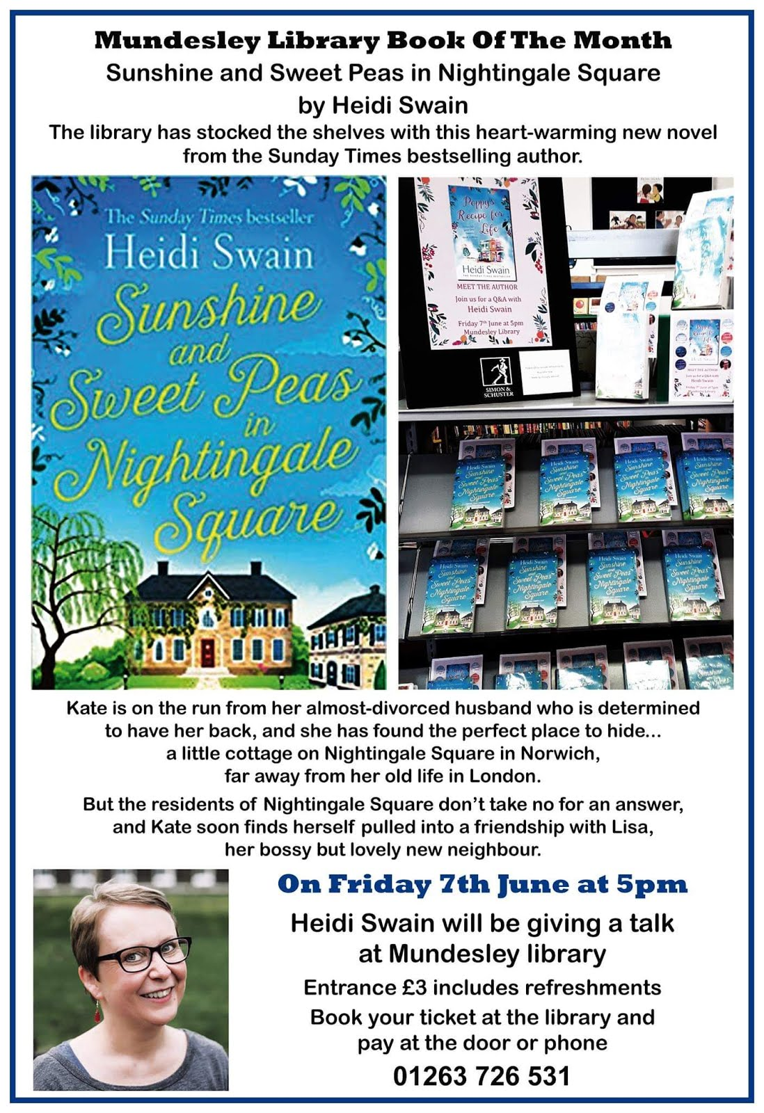 Mundesley Library - meet the author  June 7th