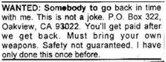 safety not guaranteed ad