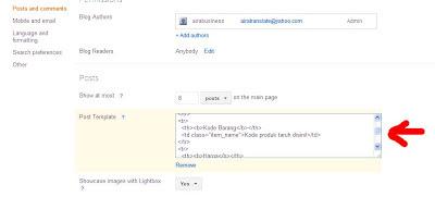 menambahkan kode untuk template entri post