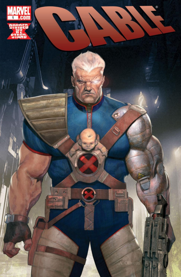 Its The Year 2043 And Cable Baby Mutant Messiah Are Far From Safe For Someone Whos Bounced Around Time A Whole Crazy Lot I Cant See Why
