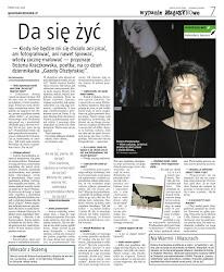 """prasa<br> """"Da się żyć!"""" w Gazecie Olsztyńskiej"""