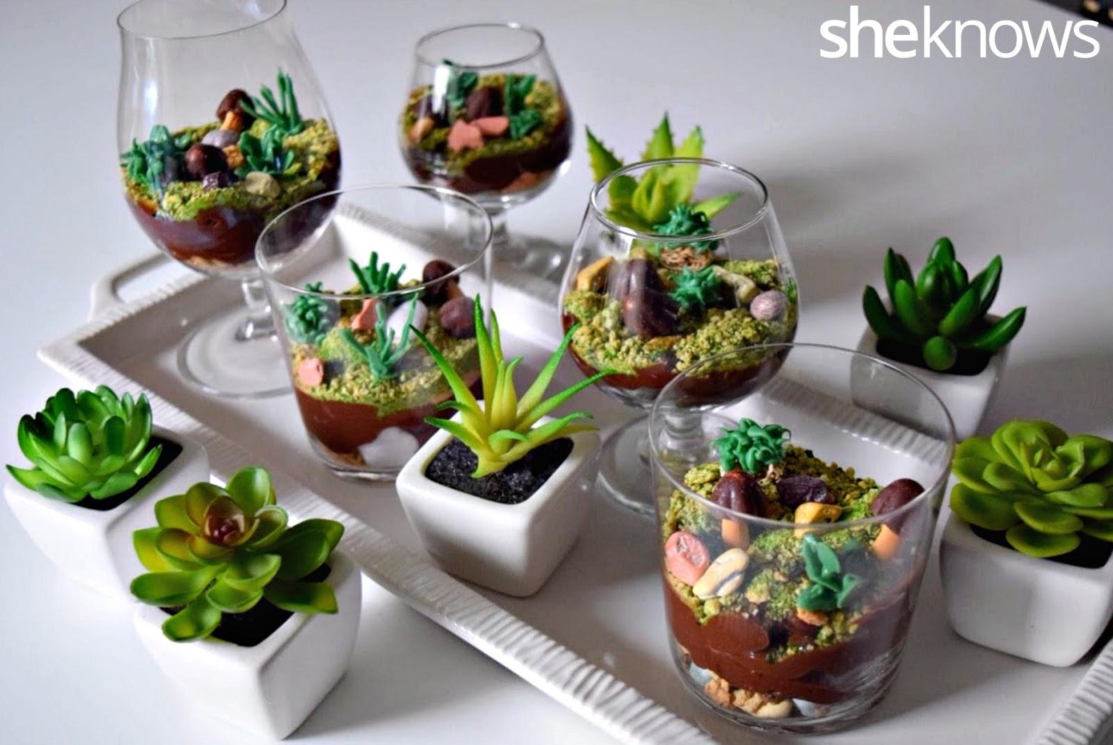 Sugar Swings! Serve Some: All Edible Terrarium Pudding Cups