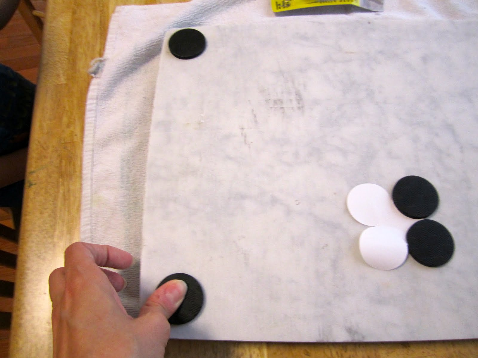 cheap and wise diy marble pastry board, Kitchen design