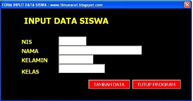 Aplikasi input data siswa dengan excel for Input keyword disini perbaris ya