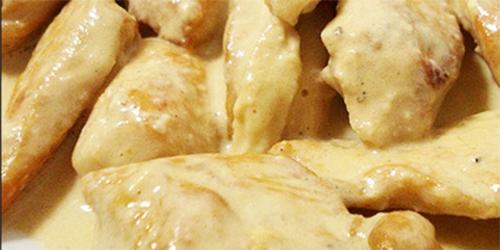 Pollo en Salsa de Crema