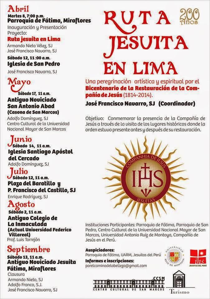Ruta Jesuita en Lima 2014