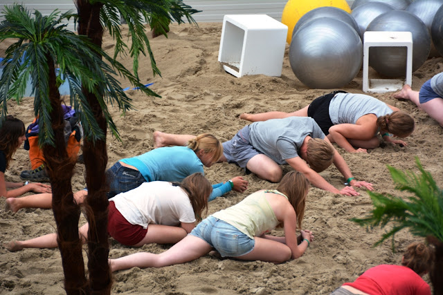 O'Neill Beach club Blankenberge Warming up
