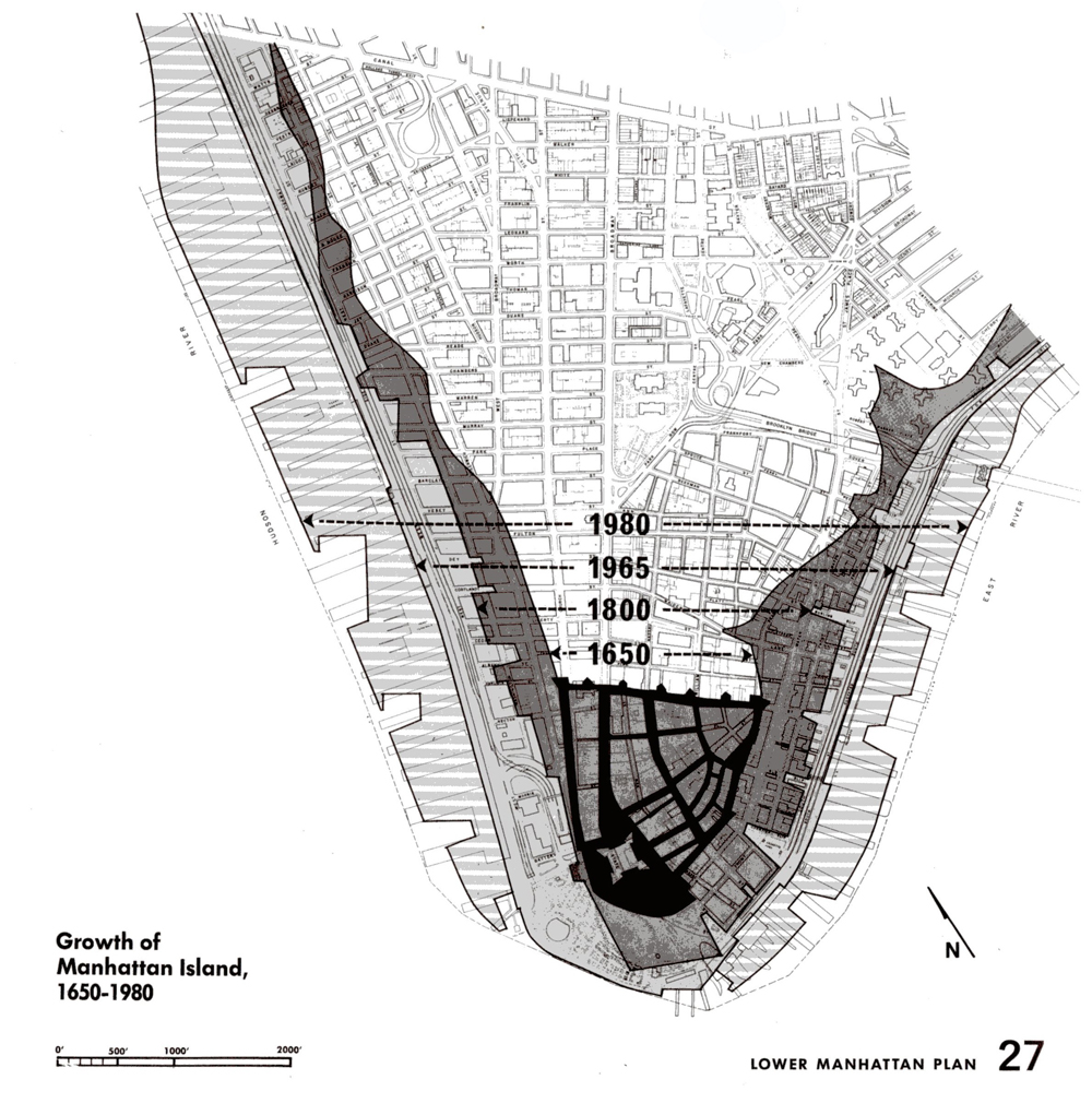 Getting From Here To There Mapping The Growth Of Manhattan - Nyc map lower manhattan