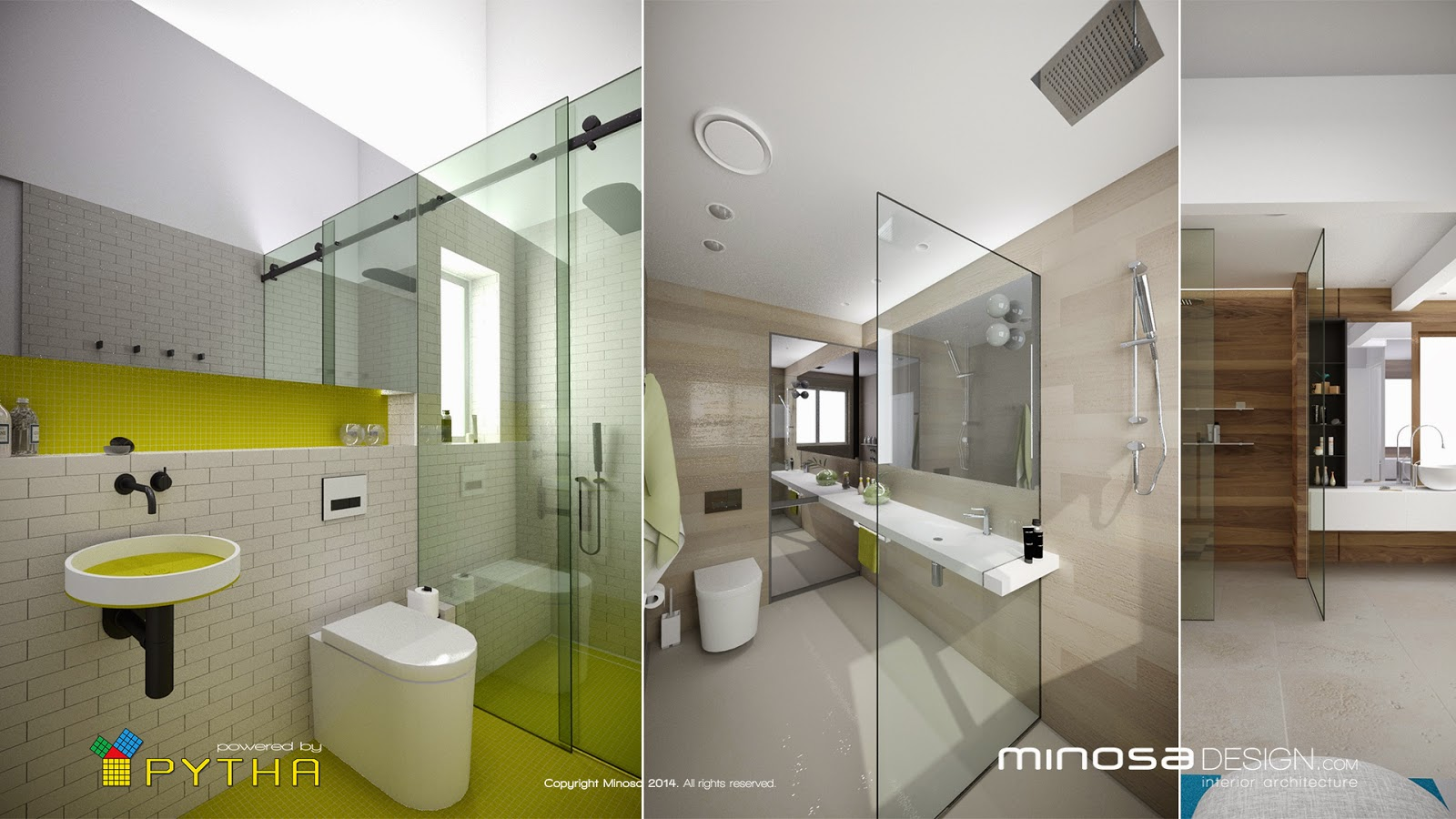 Minosa 3d rendering for 3d bathroom design