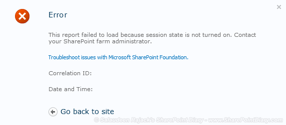 """This report failed to load because session state is not turned on"" - Access Services issue in SharePoint 2010"